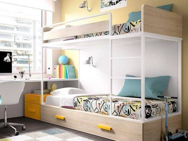 Childrens Contemporary Bunk Bed Guest Various Colours
