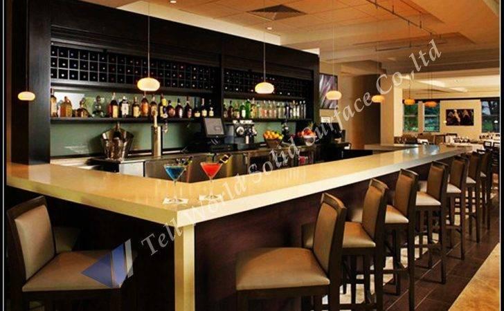China Fancy Design Commercial Corian Bar Counter