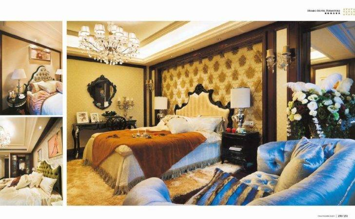 China High Class Bedroom Hotel Furniture Bed