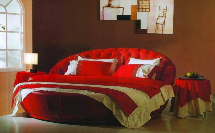 China Modern Bed Bedroom Round Leather