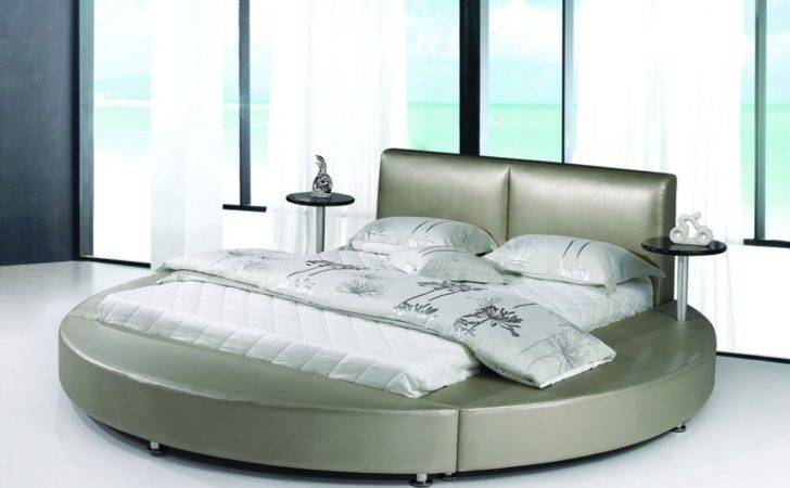 China Round Bed Mattress Leather