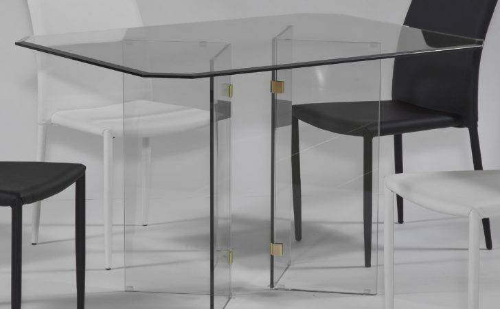 Chintaly Victor Base Dining Table Glass Top Hayneedle