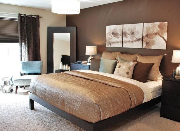 Chocolate Brown Bedroom Walls Interior Design