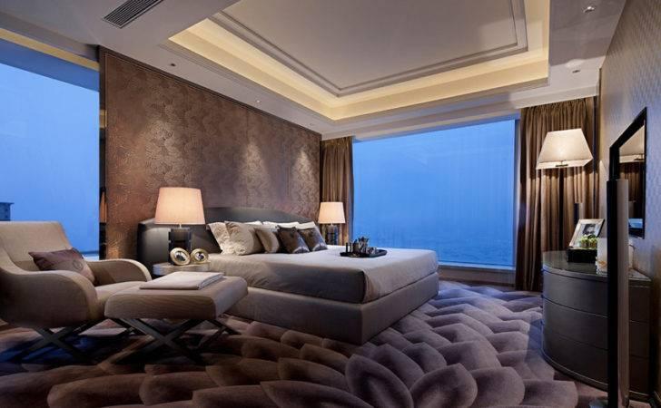 Chocolate Brown Contemporary Bedroom