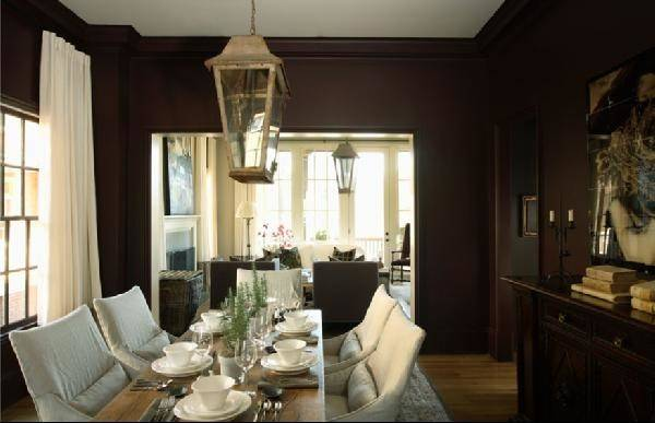 Chocolate Brown Dining Room Designs Decorating