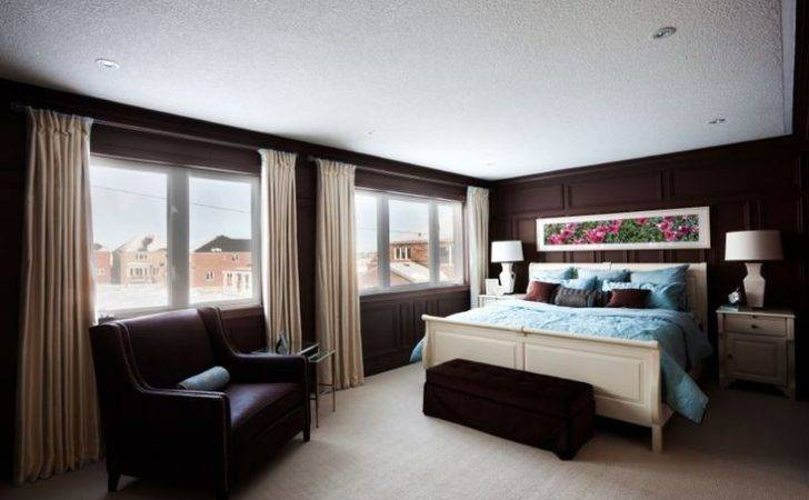 Chocolate Brown Walls Make Large Sun Filled Room Feel Cozy