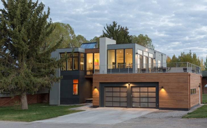 Choose Modern Prefab Homes Facade Design Double Garage Doors