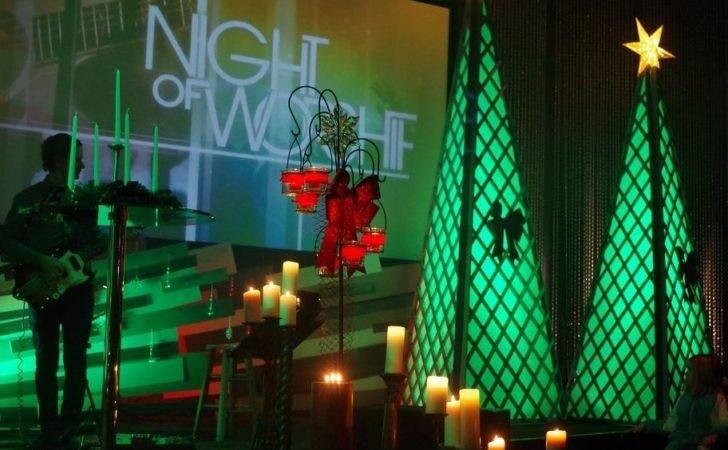 Christmas Blown Church Stage Design Ideas