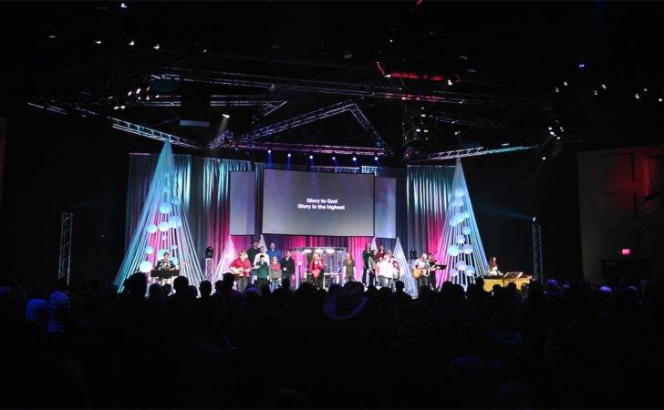 Christmas Church Stage Design Ideas