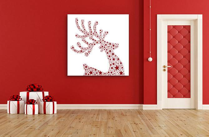 Christmas Decorating Ideas Stay Clutter Wall Art
