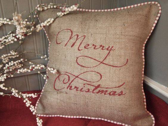 Christmas Pillows Hands Red French Cushions Pillow