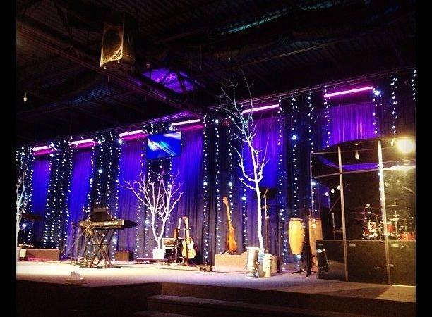 Christmas Stage Design Pixels Church Set Designs