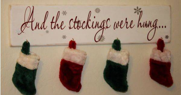 Christmas Stocking Holder Were Hung Custom Wood