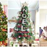 Christmas Tree Color Schemes Red Decoration Ideas