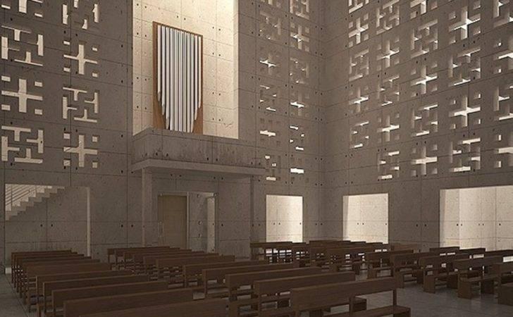 Church Interior Decoration Modern Render Redy