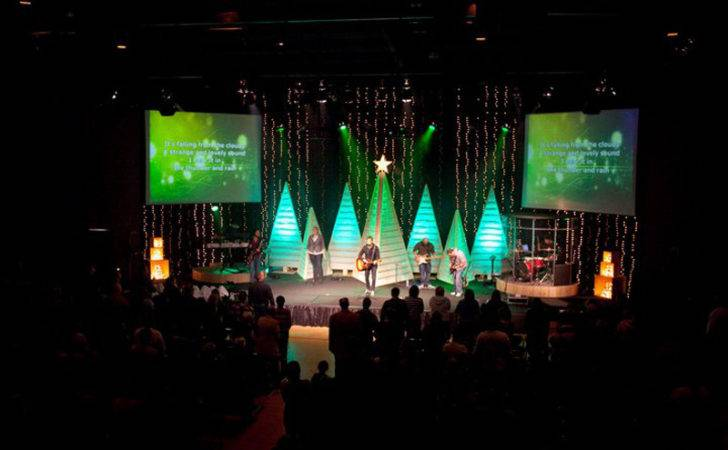 Church Stage Design Christmas Movies