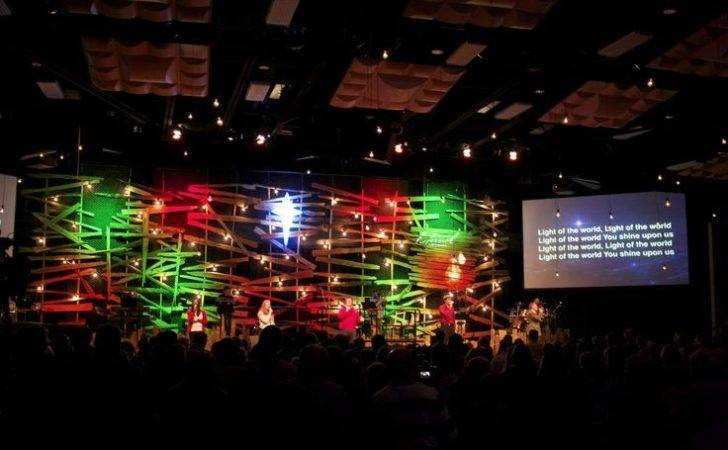 Church Stage Design Christmas