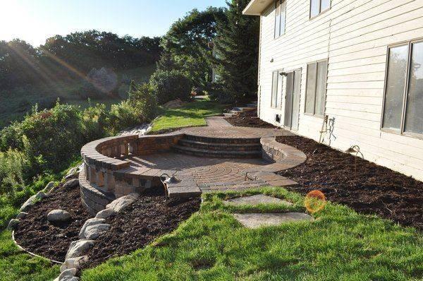 Circular Sunken Patio Hill Garden Pinterest
