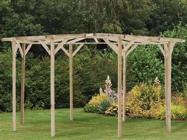 Circular Wooden Garden Pergola Internet Gardener