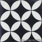 Circulos Black White Cement Tile Villa Lagoon