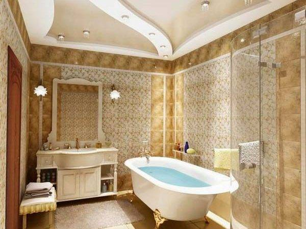 Classic Bathroom Luxury False Ceiling