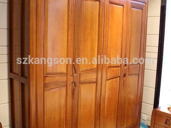 Classic Bedroom Teak Wood Wardrobe Door Design Hot Sale