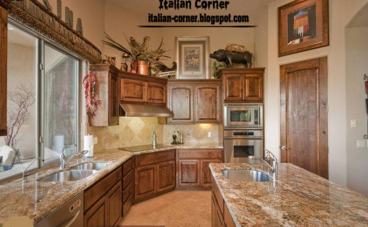 Classic Italian Kitchen Design Wooden Cabinets Designs
