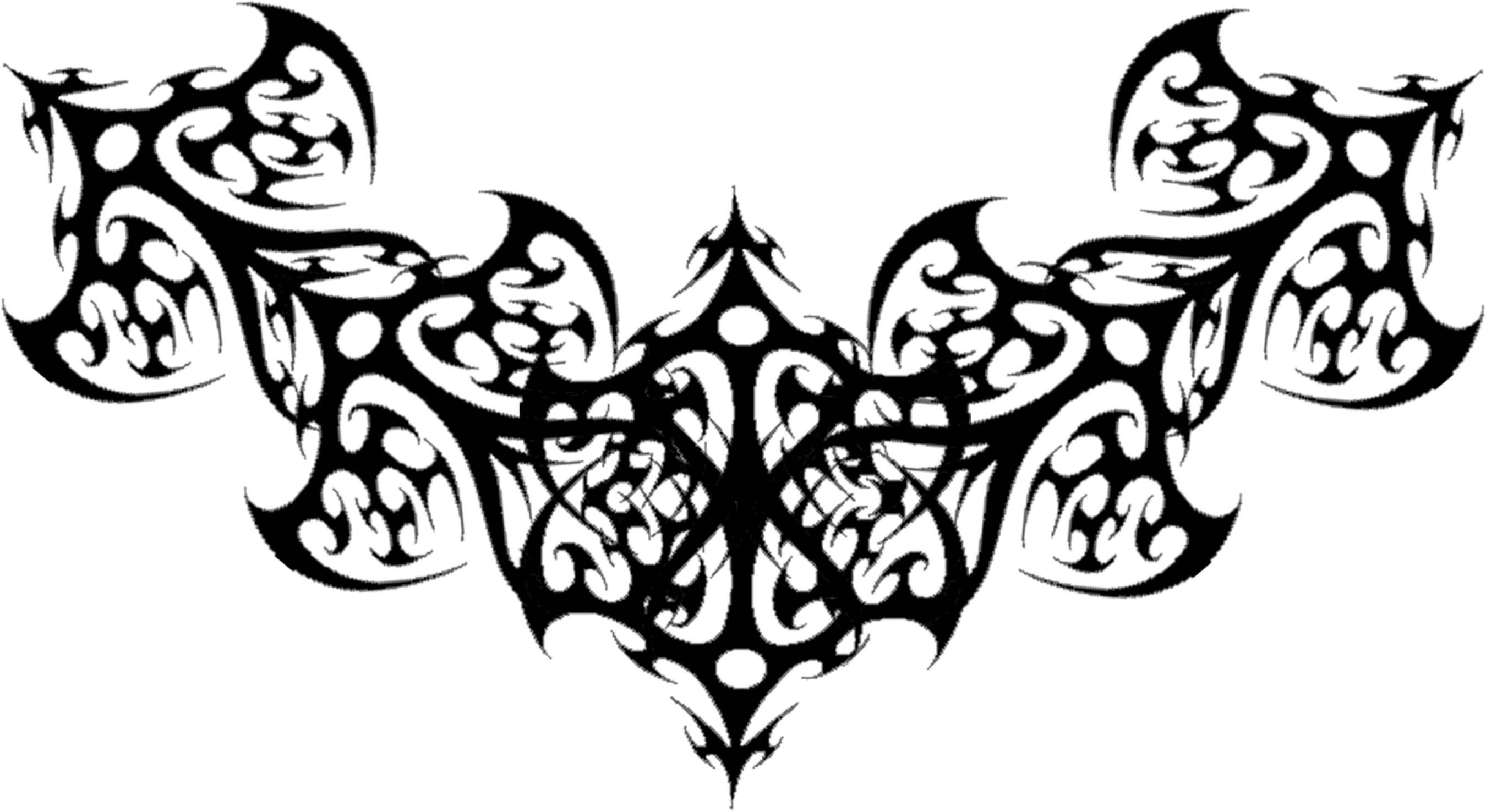 Classic Tribal Gothic Tattoo Design