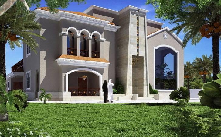 Classic Villa Elevation Abu Dhabi