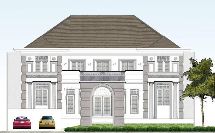 Classic Villa Elevation Design Front