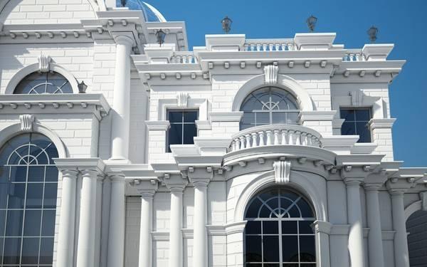 Classic Villa Elevation Elevations Contemporary Send Mail