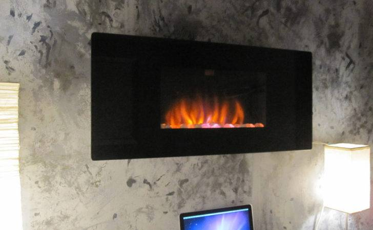 Classicflame Wall Hanging Electric Fireplace Gra Blk