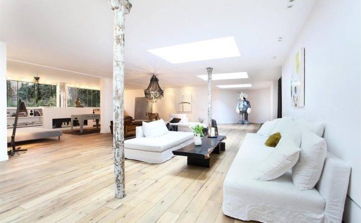 Classy White Loft Design Interior Ideas