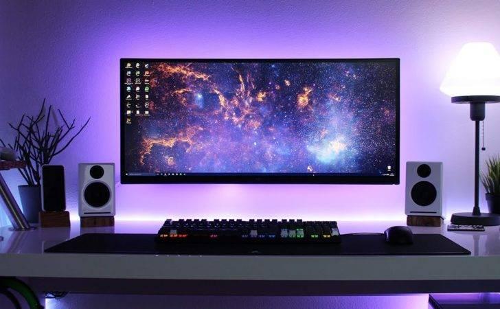 Clean Minimal Desk Setup Cable Management Goals Deluxe