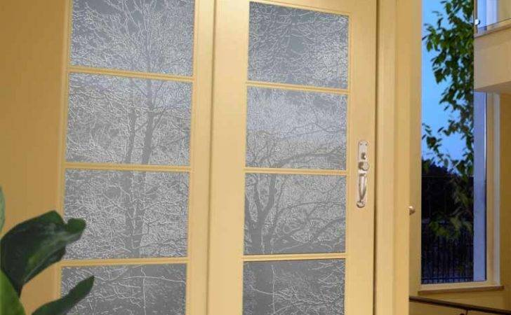 Clear Glass Canvas Design Frosted Opaque