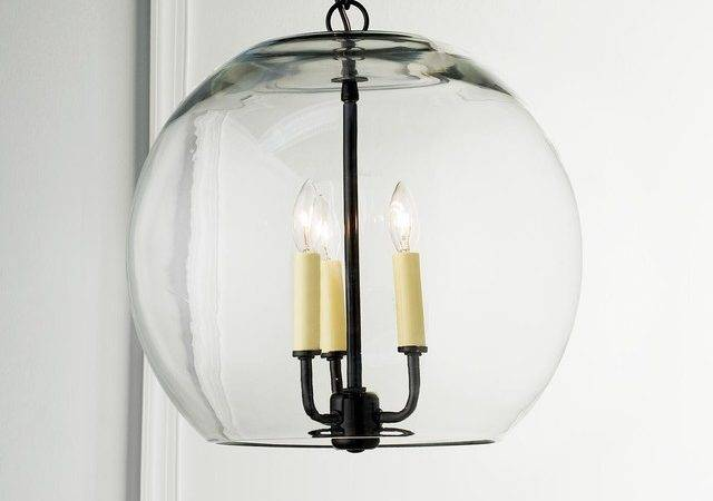 Clear Glass Sphere Chandelier Chandeliers Shades Light