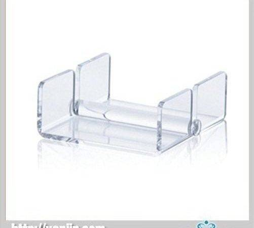 Clear Square Fashional Acrylic Lucite Napkin Holder Simple Style