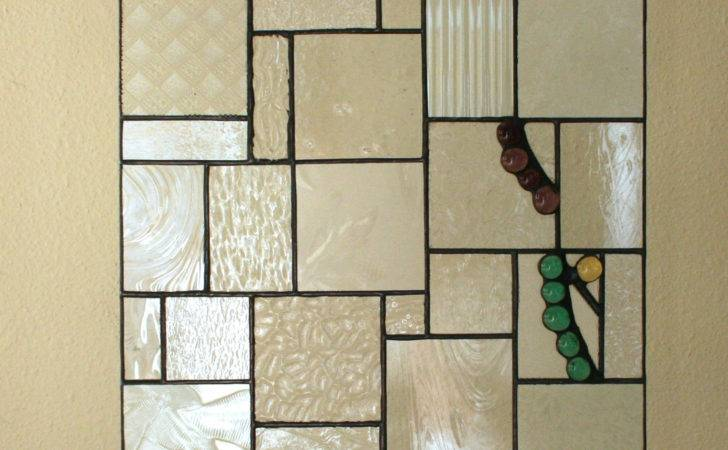 Clear Stained Glass Panel Textured Hanging