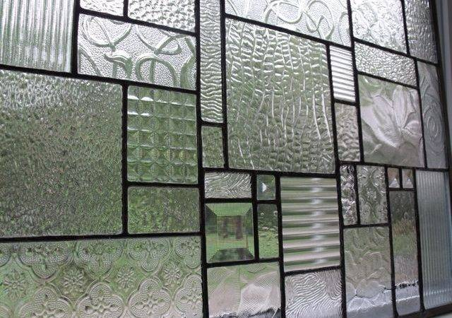 Clear Textured Glass Bevels Collage Panel