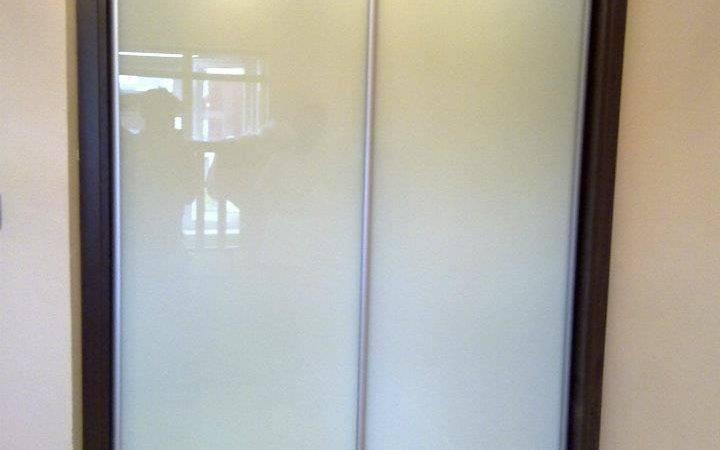 Clear White Glass Sliding Wardrobes