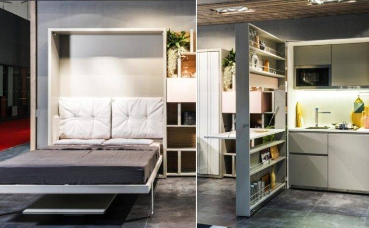 Clei Unveils Two One Hideaway Kitchen Murphy Bed Homecrux