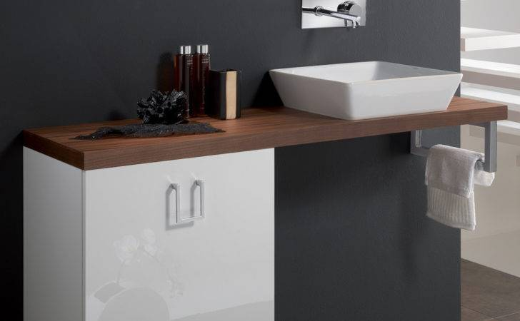Cleo Veneered Walnut High End Bathroom Sink Vanity Stand
