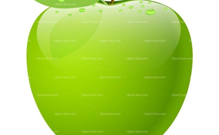 Clipart Green Apple Vector Design