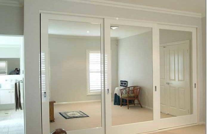 Closet Doors Mirrored Sliding Modern Mirrors Small