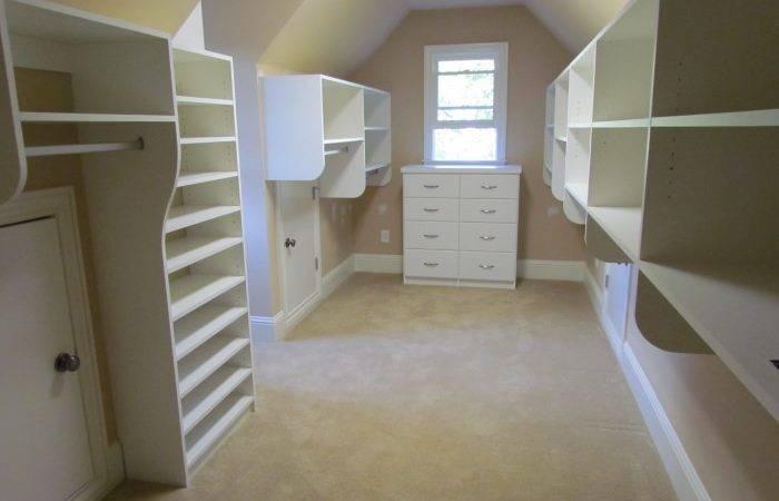 Closet Long Sloped Ceiling Atlanta Access
