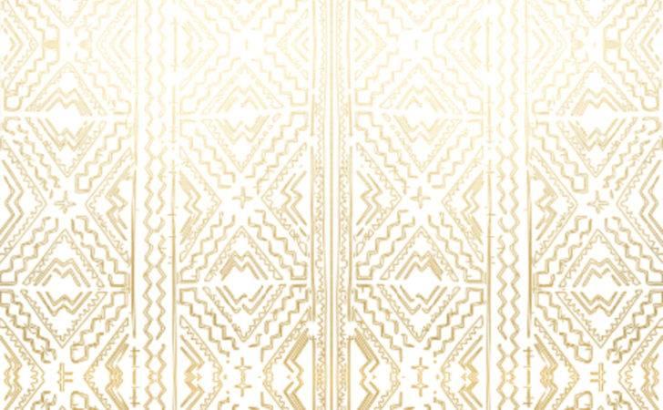 Cloth Mudcloth Fabric Gold White Tribal Interior Design