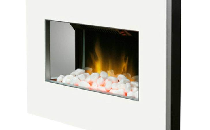 Clova White Wall Mounted Electric Fire Optiflame Pebble