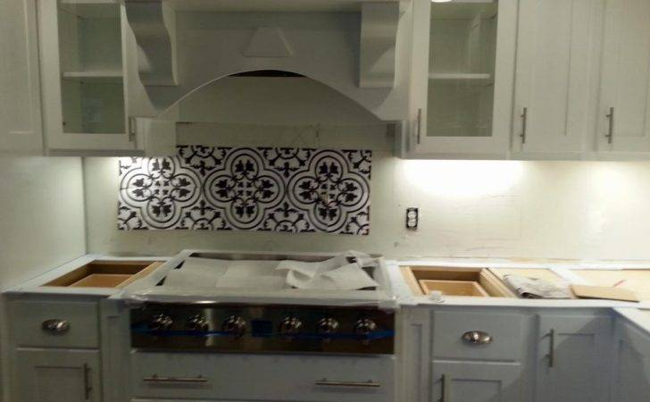 Cluny Cement Tile Backsplash Yeah