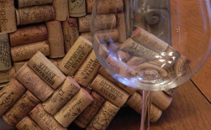 Coasters Made Wine Corks Girlfriends Pinterest