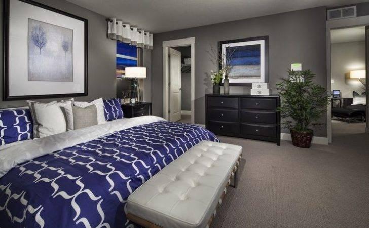 Cobalt Blue Gray Master Bedroom Home Sweet Pinterest